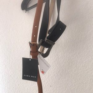 New with tags! Zara set of 2 belts